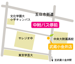 この指とまれ整骨院 武蔵小金井店 地図